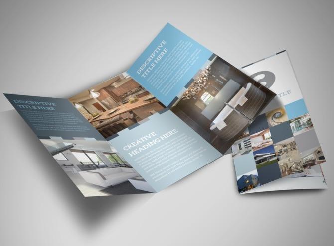 Architecture design studio tri fold brochure template for Design studio brochure