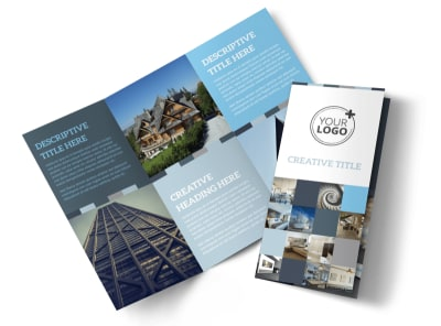 Architecture & Design Studio Tri-Fold Brochure Template preview