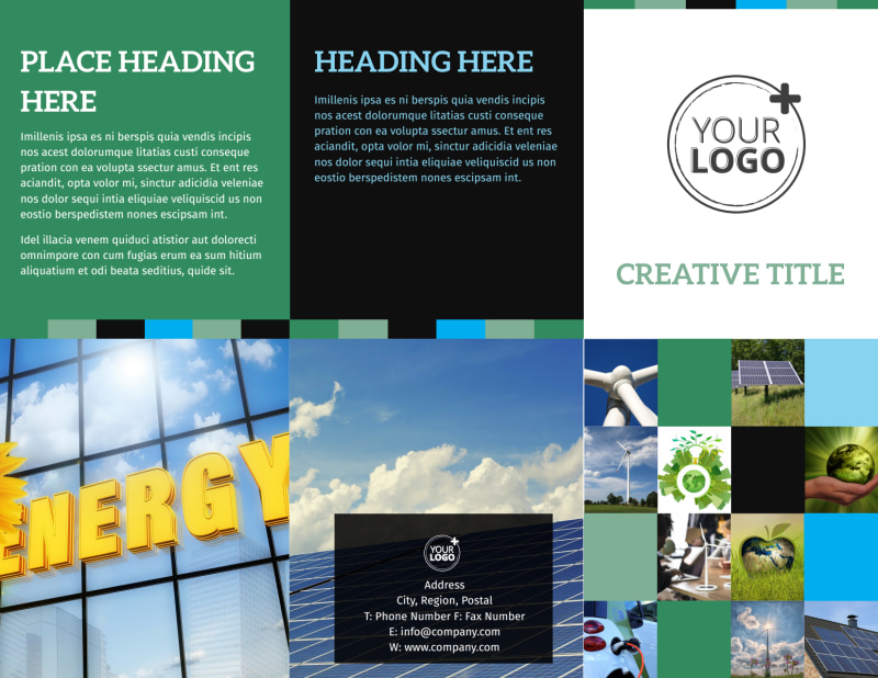 Green Energy Technology Center Brochure Template Preview 2