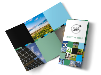 Green Energy Technology Center Tri-Fold Brochure Template preview