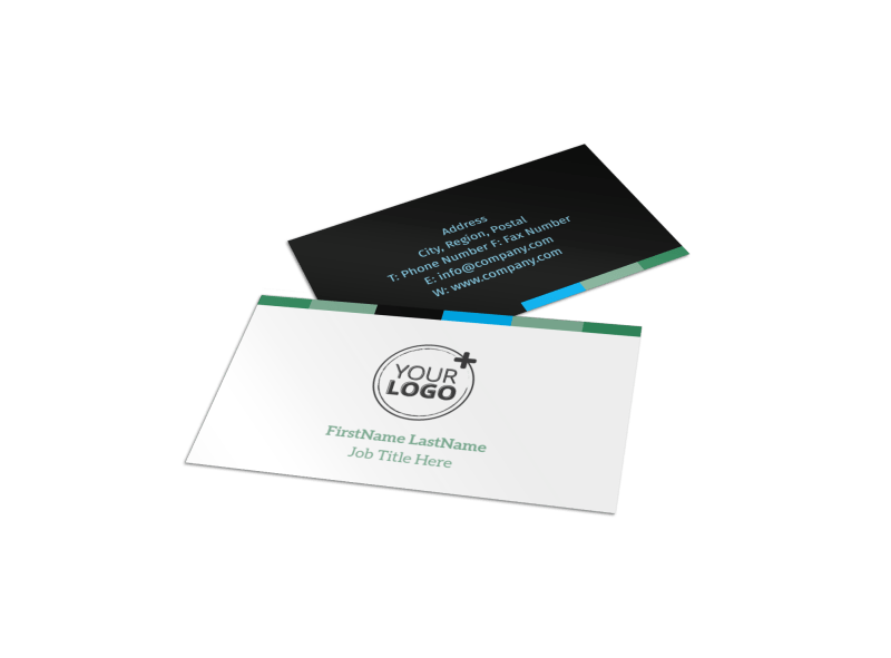 Green Energy Technology Center Business Card Template Preview 1