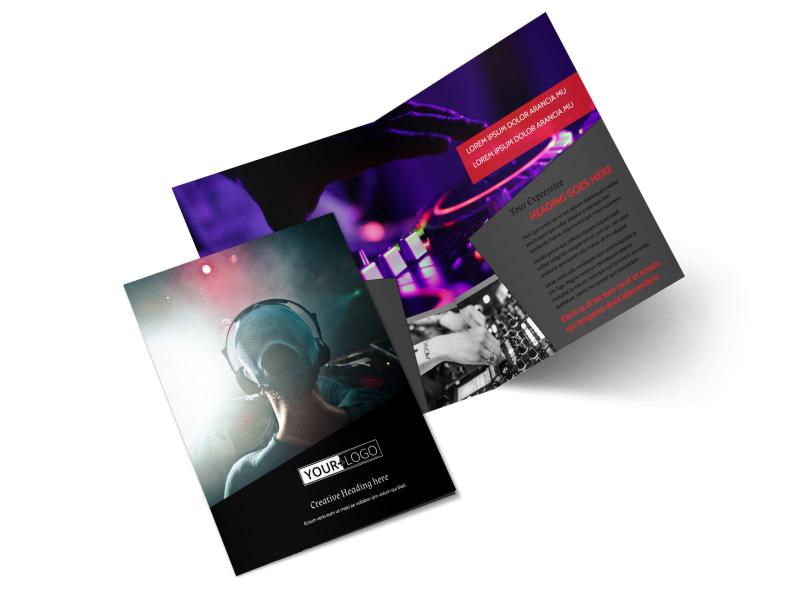 My DJ Profile Bi-Fold Brochure Template 2