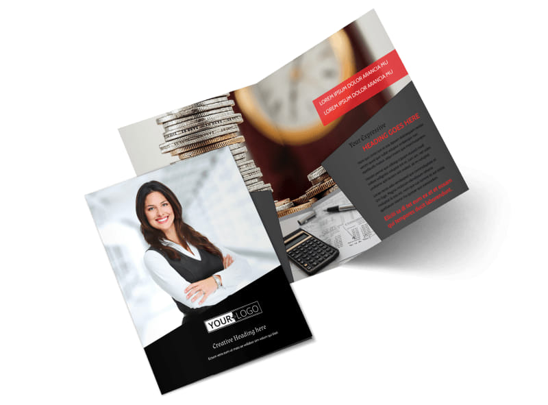 Accountant Services For Small Business Bi-Fold Brochure Template 2
