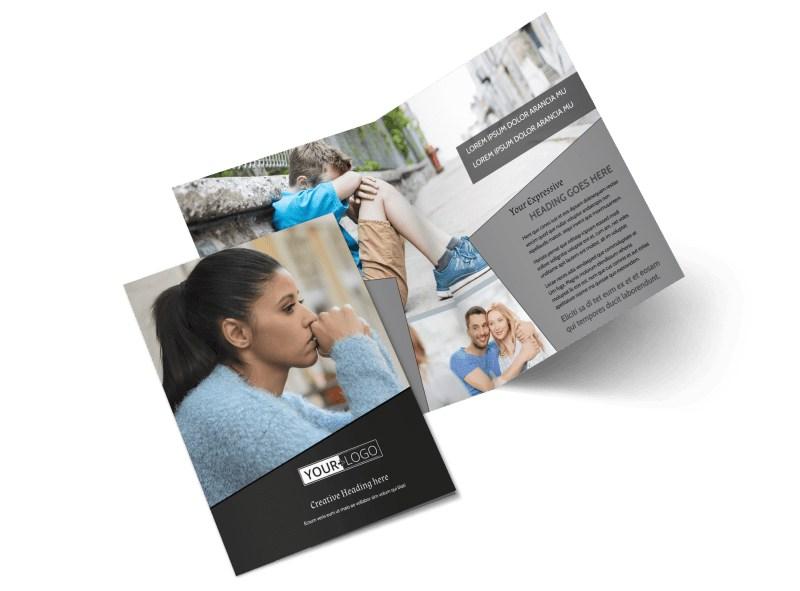 Depression Therapy Bi-Fold Brochure Template 2