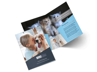 Veterinary Hospital Bi-Fold Brochure Template 2