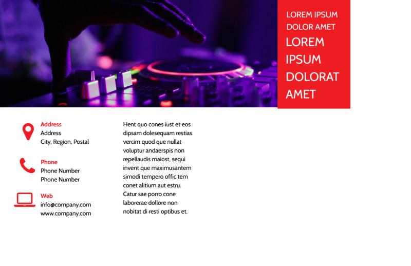 My DJ Profile Postcard Template Preview 3