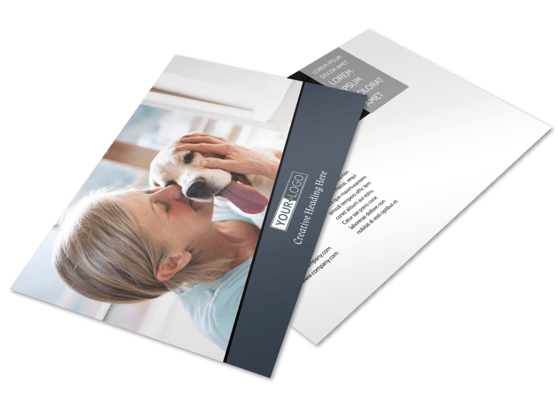 Veterinary Hospital Postcard Template Preview 1