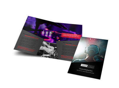 My DJ Profile Bi-Fold Brochure Template