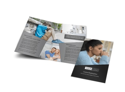 Depression Therapy Bi-Fold Brochure Template preview