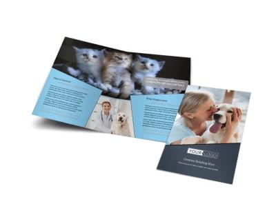 Veterinary Hospital Bi-Fold Brochure Template