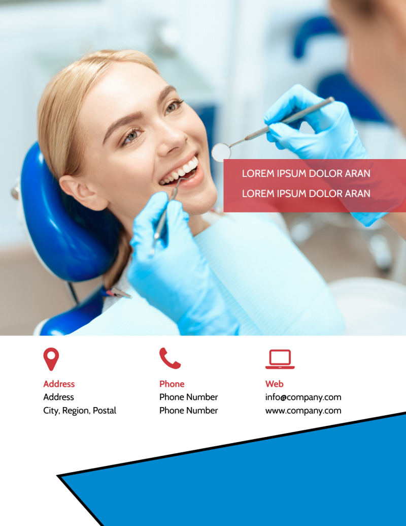 Dental Care Center Flyer Template Preview 3