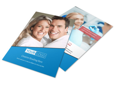Dental Care Center Flyer Template preview