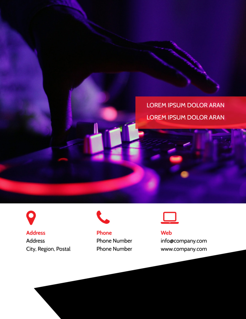 My DJ Profile Flyer Template Preview 3
