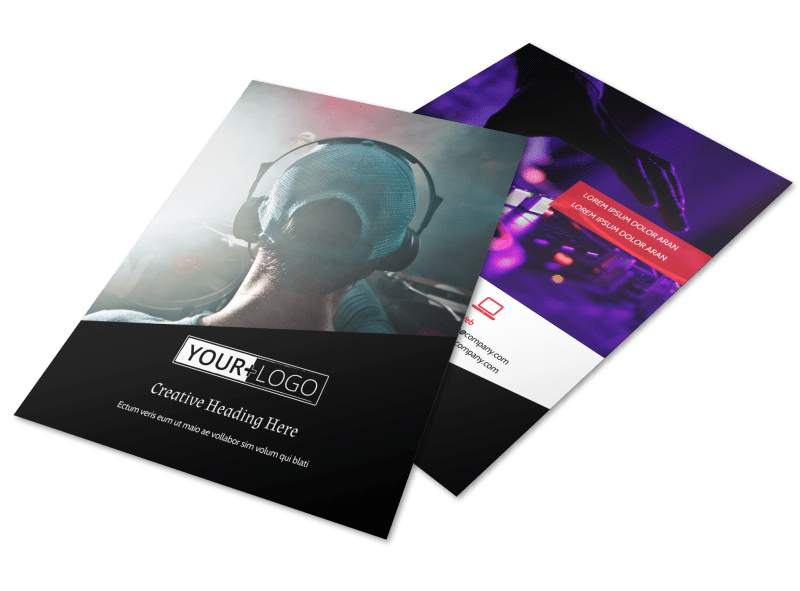 My DJ Profile Flyer Template Preview 1