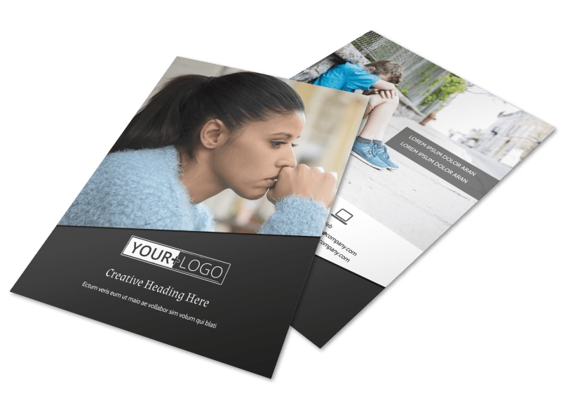 Depression Therapy Flyer Template Preview 1