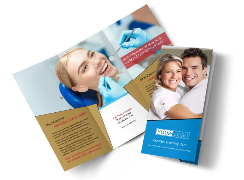 Dental Care Center Tri-Fold Brochure Template