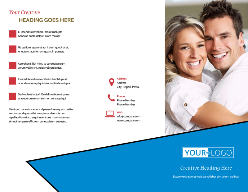 Dental Care Center Brochure Template Preview 2