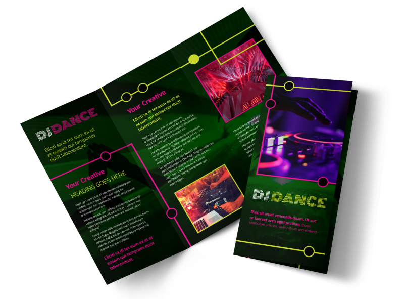My DJ Profile Brochure Template Preview 4