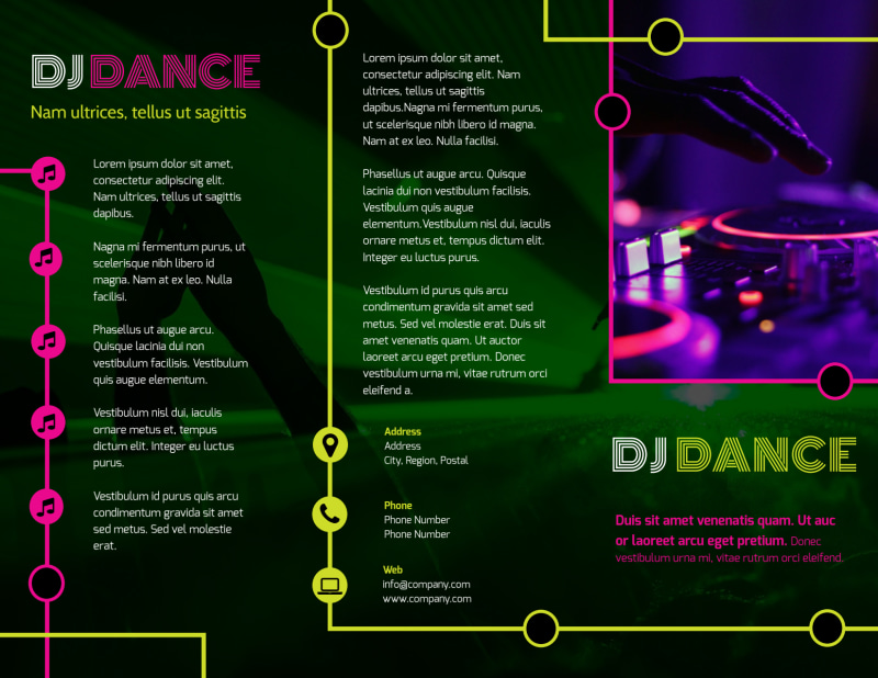 My DJ Profile Brochure Template Preview 2
