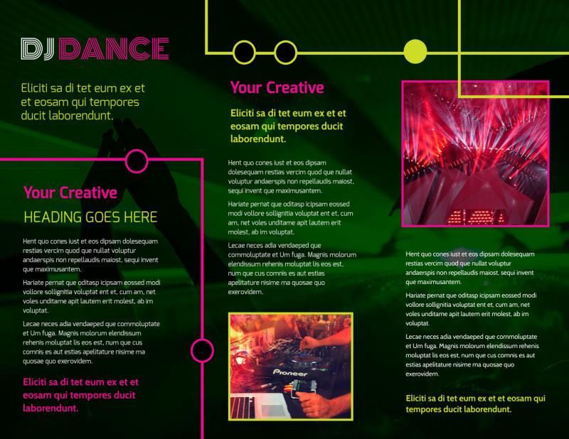My DJ Profile Brochure Template Preview 3
