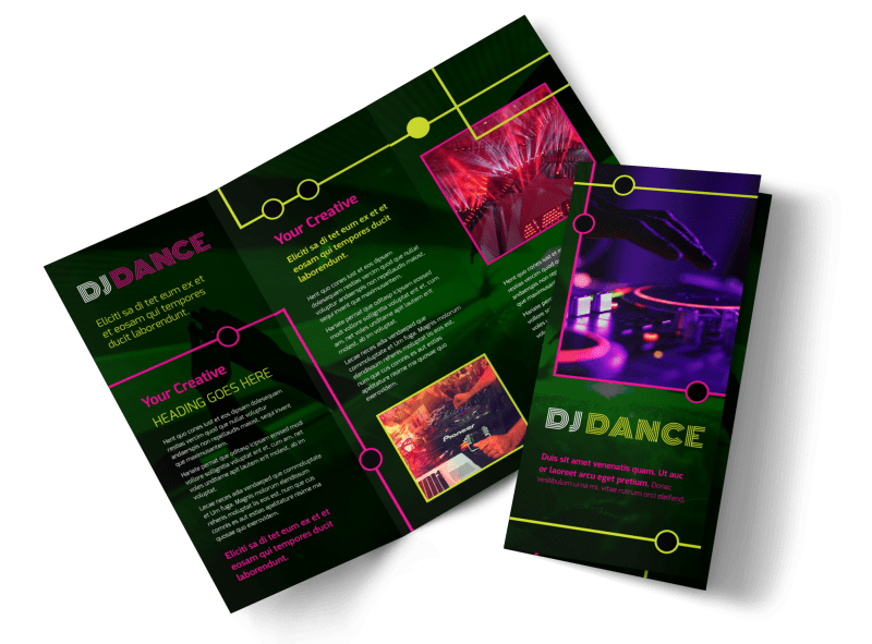 My DJ Profile Brochure Template Preview 1