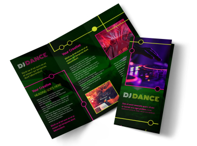 My DJ Profile Tri-Fold Brochure Template