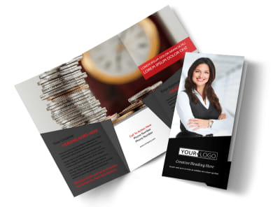 Accountant Services For Small Business Tri-Fold Brochure Template