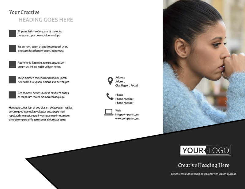 Depression Therapy Brochure Template Preview 2