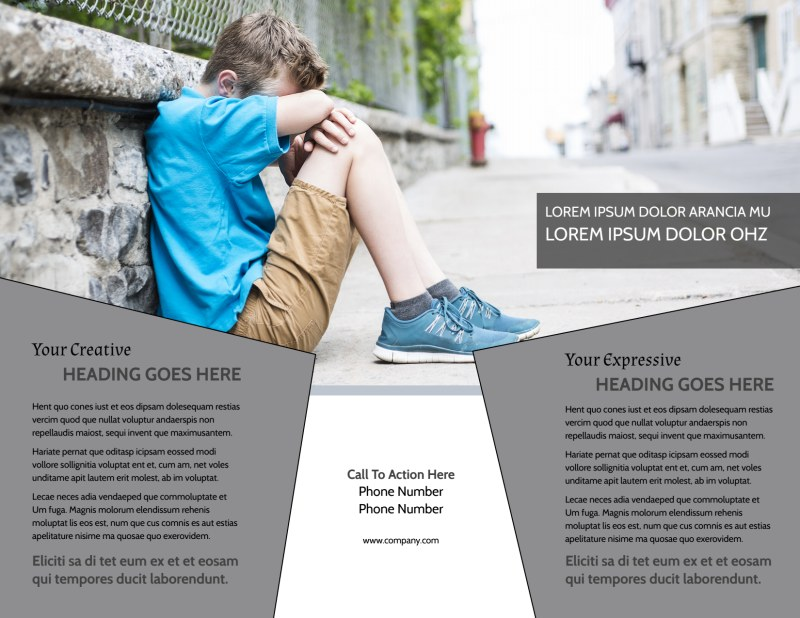 Depression Therapy Brochure Template Preview 3