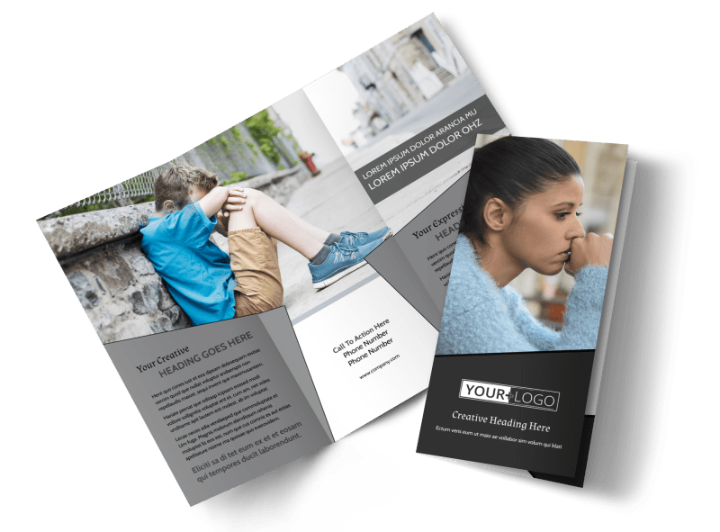 Depression Therapy Brochure Template Preview 1