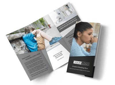 Depression Therapy Tri-Fold Brochure Template preview