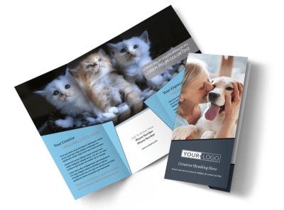 Veterinary Hospital Tri-Fold Brochure Template