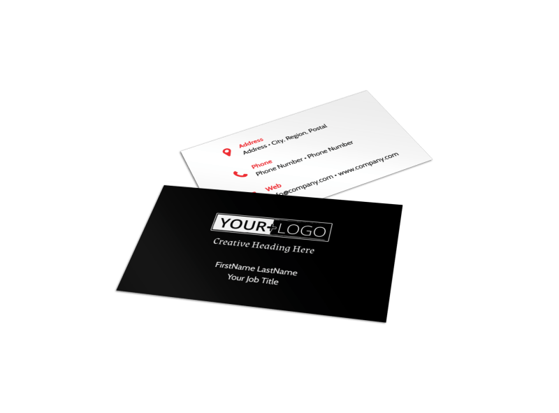 Accountant Services For Small Business Business Card Template Preview 1