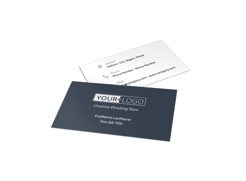 Veterinary Hospital Business Card Template Preview 1