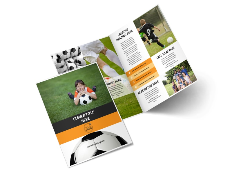Youth Soccer Bi-Fold Brochure Template 2