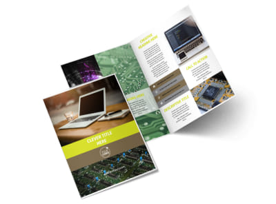 High-Tech Manufacturing Company Brochure Template 2