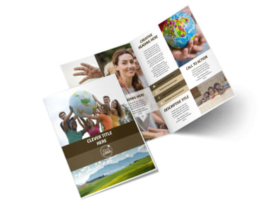 African Mission Trip Bi-Fold Brochure Template 2