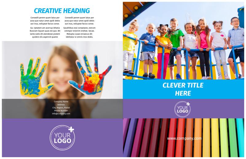 First-School Preschool Activities Brochure Template Preview 2