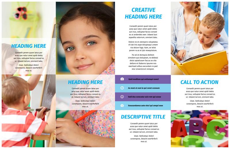 First-School Preschool Activities Brochure Template Preview 3