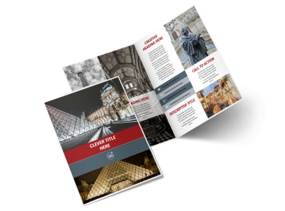 European Art Museum Bi-Fold Brochure Template 2