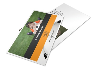 Youth Soccer Postcard Template 2