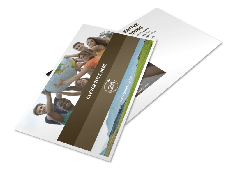 African Mission Trip Postcard Template 2