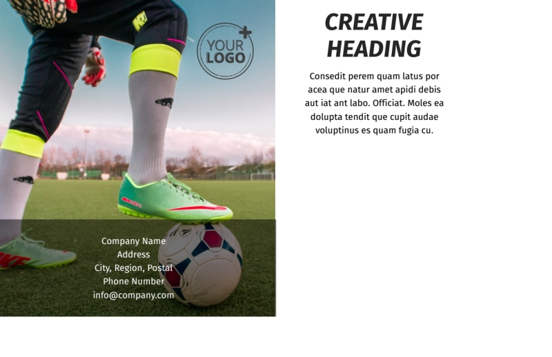Weekend Soccer Camp Postcard Template Preview 3