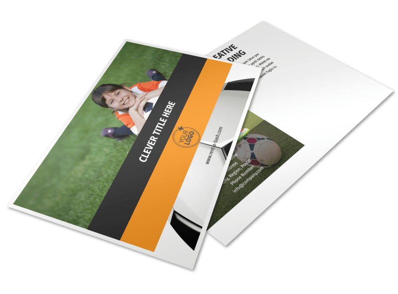 Weekend Soccer Camp Postcard Template Preview 1
