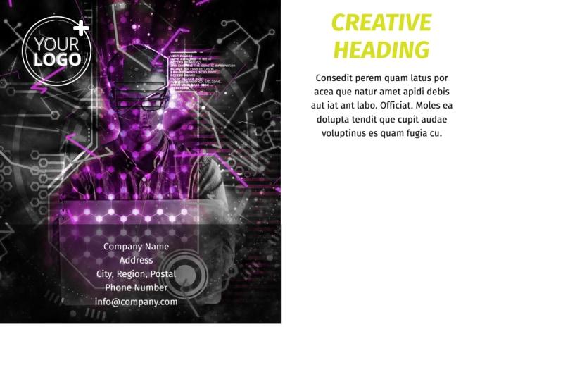 Computer Technology Manufacturer Postcard Template Preview 3