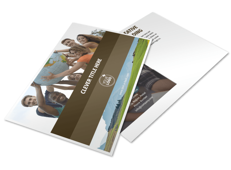 African Mission Trip Postcard Template Preview 1