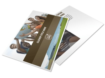 African Mission Trip Postcard Template