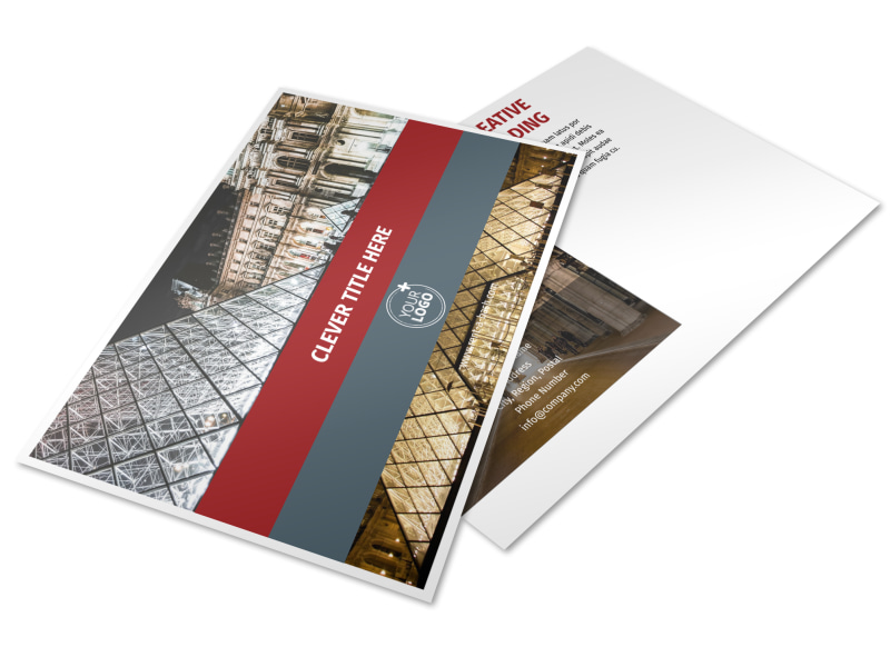 European Art Museum Postcard Template Preview 4