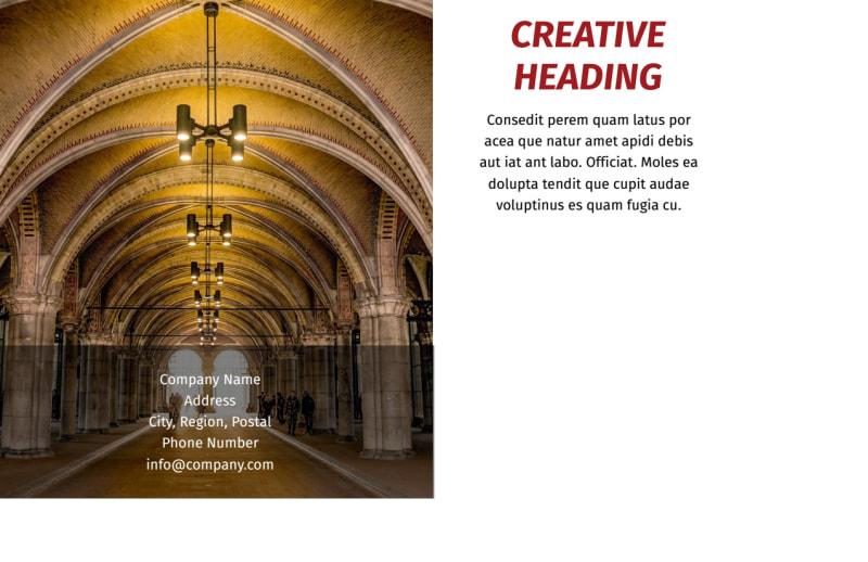 European Art Museum Postcard Template Preview 3