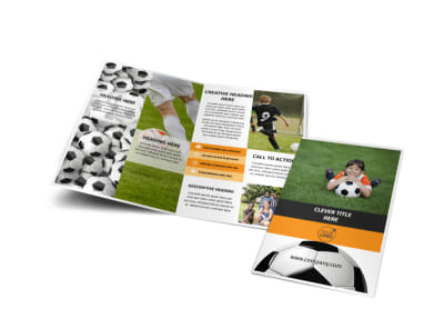Youth Soccer Bi-Fold Brochure Template